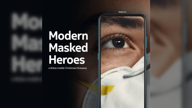 "Nokia mobile Philippines honors frontliners this Holiday Season with the ""Modern Masked Heroes"" Christmas Giveaway 