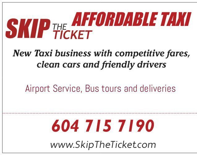 Taxi for Abbotsford and Vancouver airport ground transportation