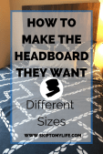 Create an inexpensive DIY headboard for your collegiate's dorm or apartment.