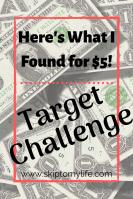 $5 Friday and DIY at Target Dollar Spot.