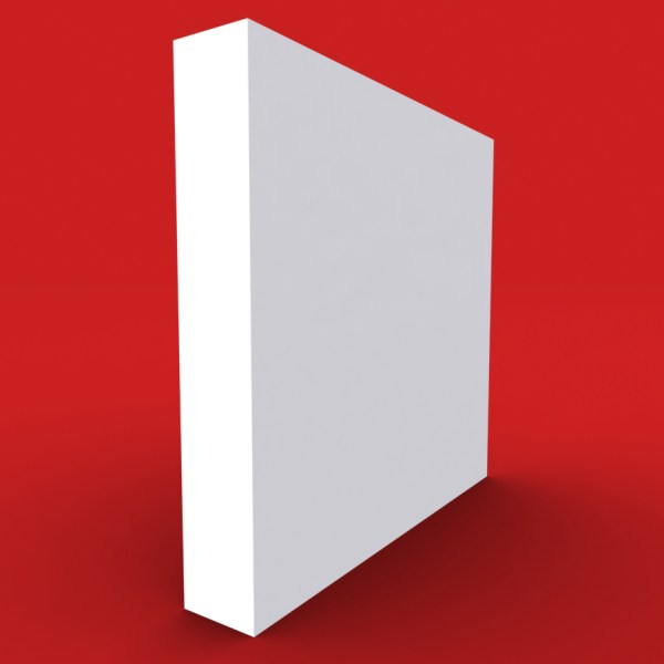 square edge skirting board profile