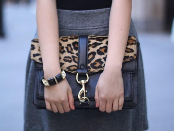 Black & Leopard Bag