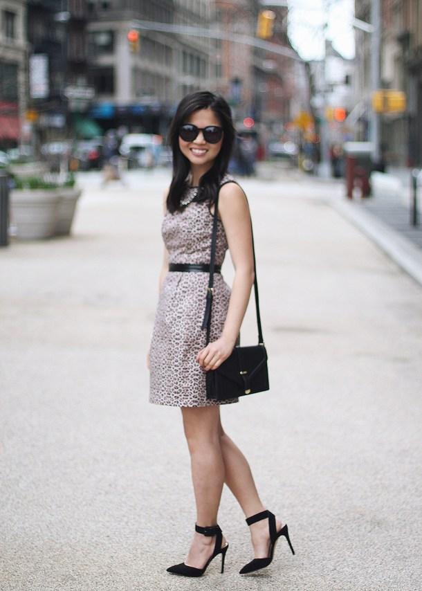 Warehouse Leopard Print Dress