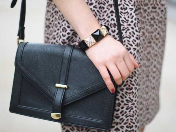 Black Purse with Gold Hardware