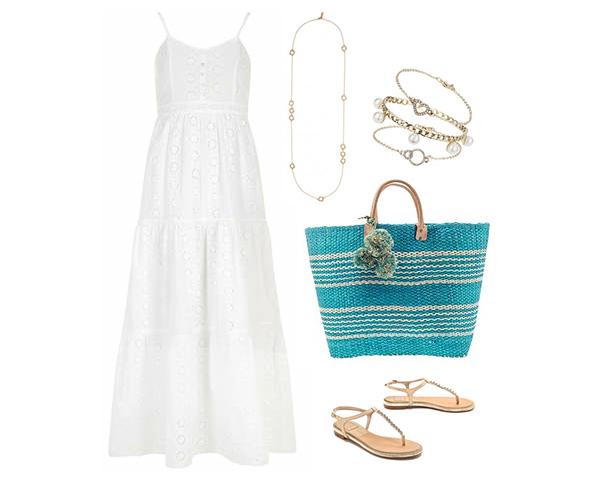 Bohemian Inspired White Maxi Dress