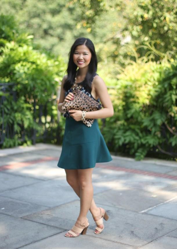 How to Wear a Flared Mini Skirt