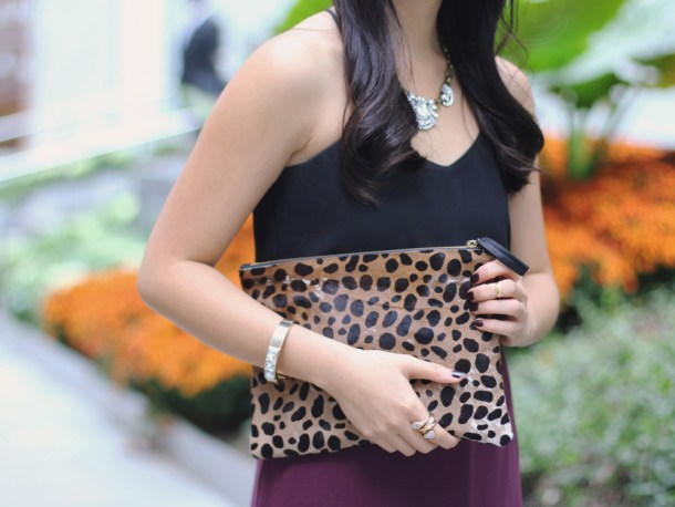 Black, Burgundy and Leopard Outfit