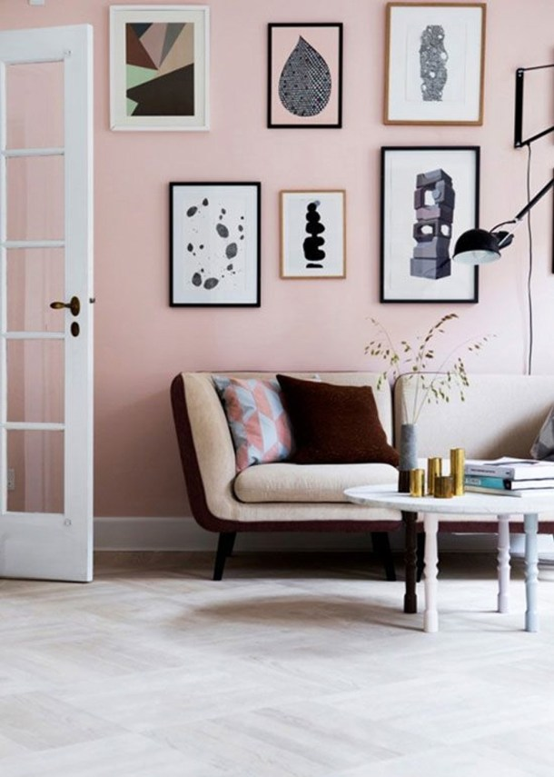 Pale Pink Gallery Wall