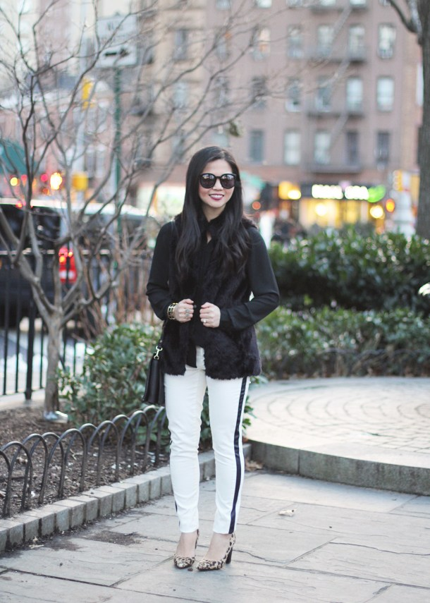 Skirt The Rules // Black & White Winter Outfit