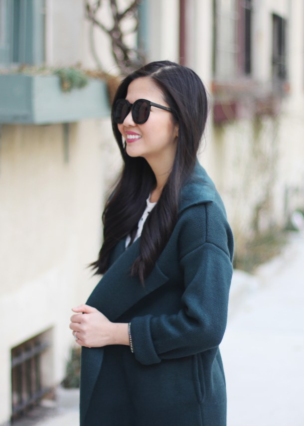 Forest Green Sweater Coat