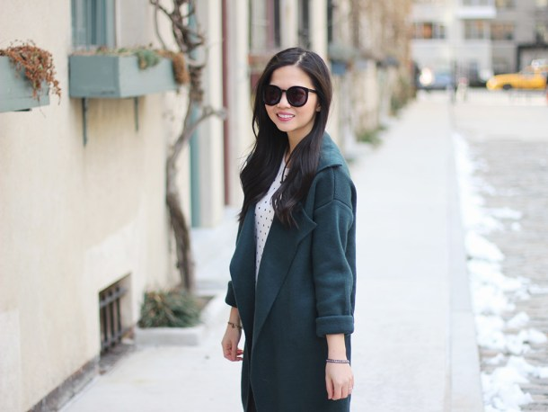 Forest Green Knit Coat