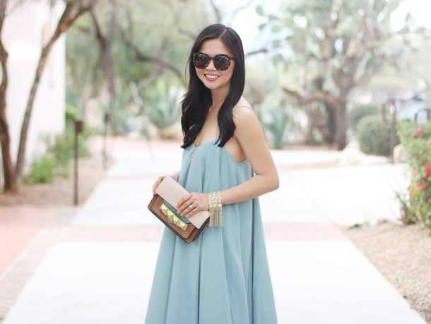 Skirt The Rules // Mint Trapeze Dress