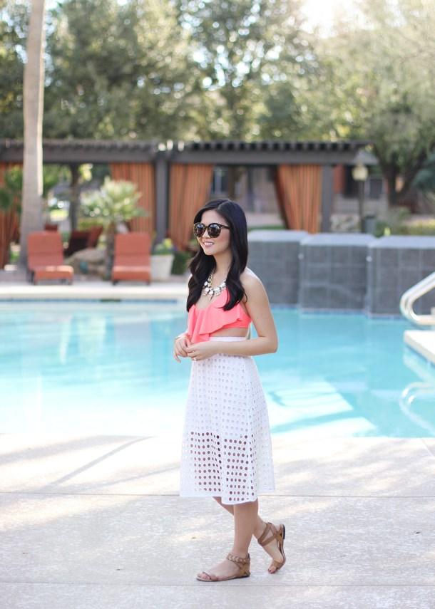Skirt The Rules // White Eyelet Skirt