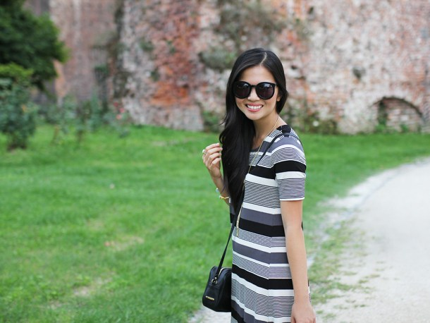 Skirt The Rules // Black & White Striped Dress