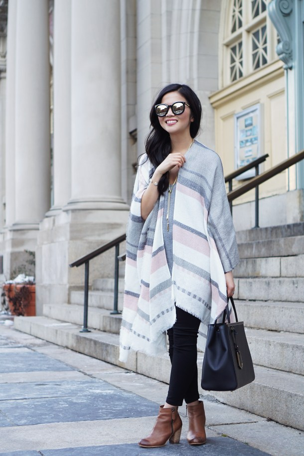 Skirt The Rules Spring Striped Poncho 1