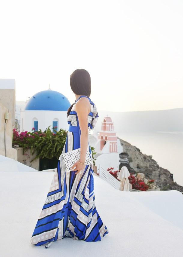 Skirt The Rules / Blue Maxi Dress in Santorini