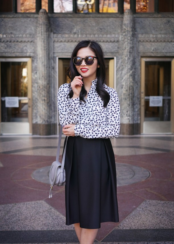 Black & White Holiday Party Outfit