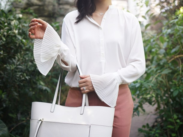 Skirt The Rules / Pleated Sleeve Blouse for Work