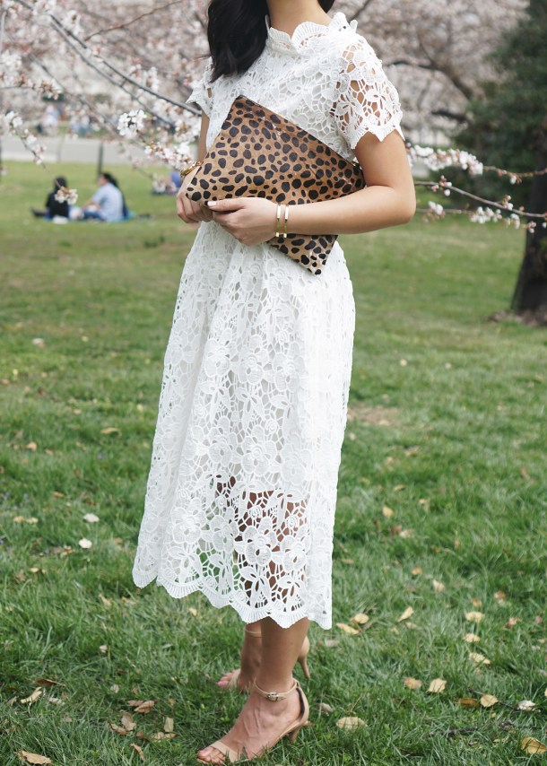 Skirt The Rules / White Lace Midi Dress