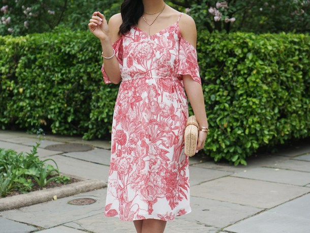 Skirt The Rules / Floral Print Cold Shoulder Dress