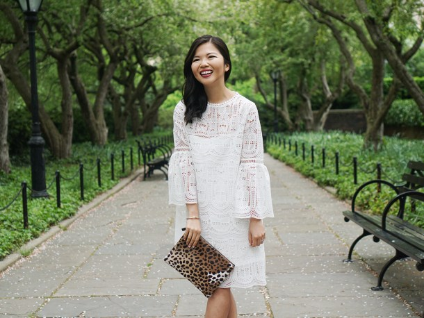 Skirt The Rules / White Lace Dress with Bell Sleeves