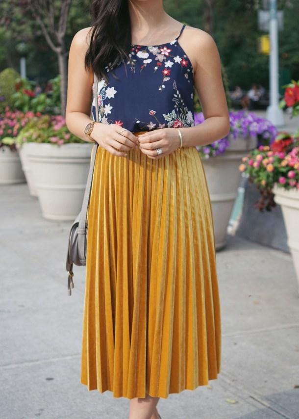 Mustard Yellow Midi Skirt