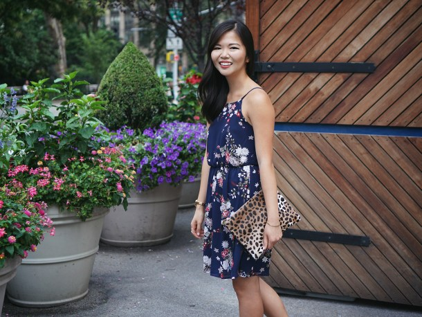 Skirt the Rules / Navy Floral Dress