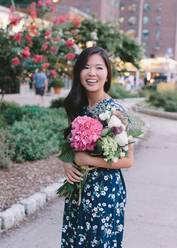 Summer Style / Navy Floral Jumpsuit