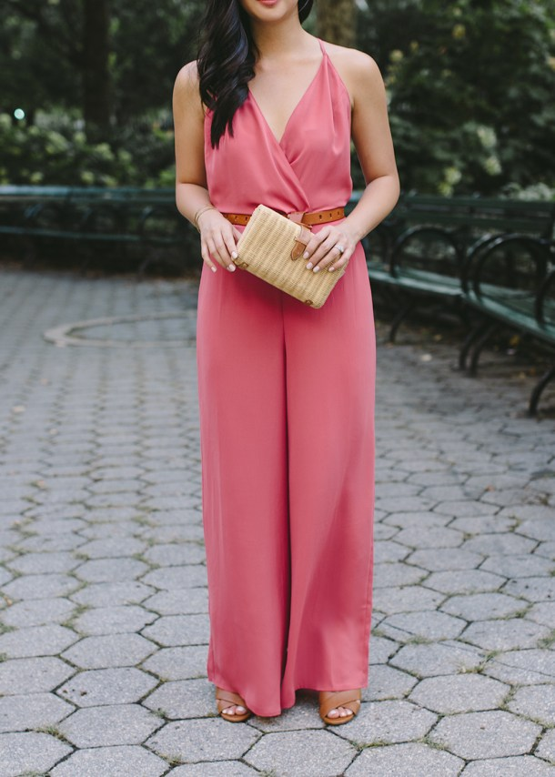 Nordstrom Anniversary Sale / Pink Surplice Jumpsuit