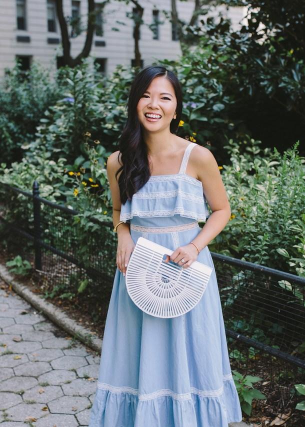 Summer Dress / White & Blue Dress
