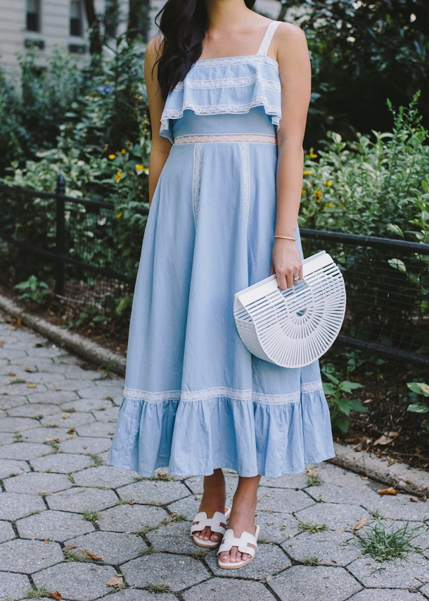 Summer Outfit / White Bag & Sandals