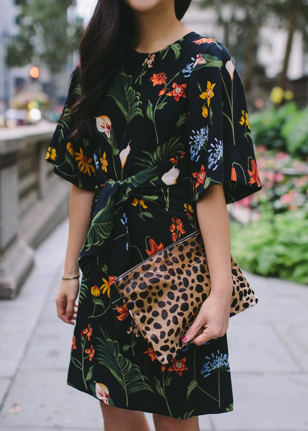 How to Mix Prints / Floral Dress & Leopard Bag