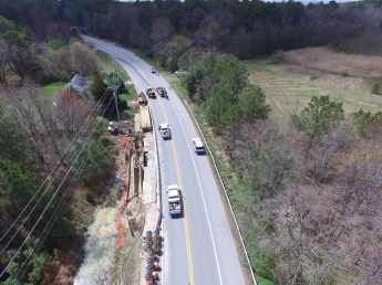 Transmission line being moved down RT 8