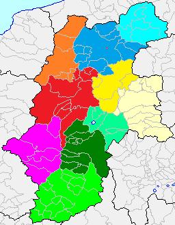 長野県の10分割区分