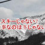 実はスキー界復活のカギはスキー以外にあったんです。
