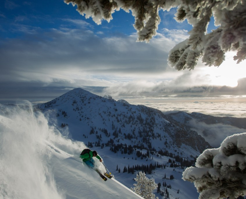 Skiing in Snowbird (Photo by Tony Harrington and Visit Salt Lake)