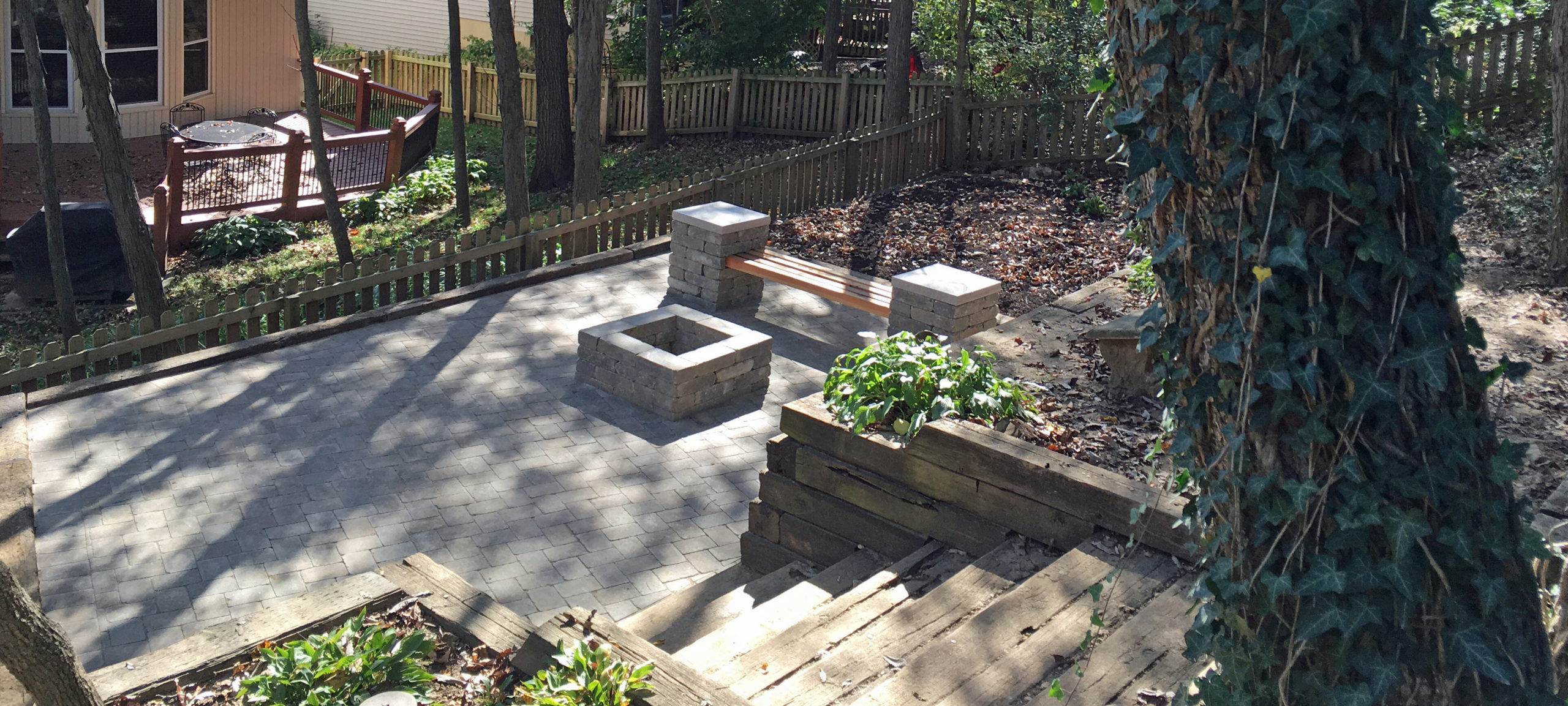 outdoor fire pit fireplace kansas city sk lawn and landscape