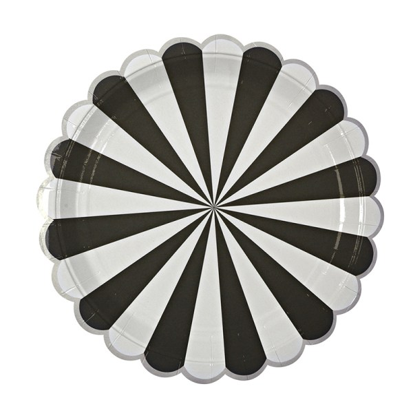 Toot Sweet Black Stripe Large Plates