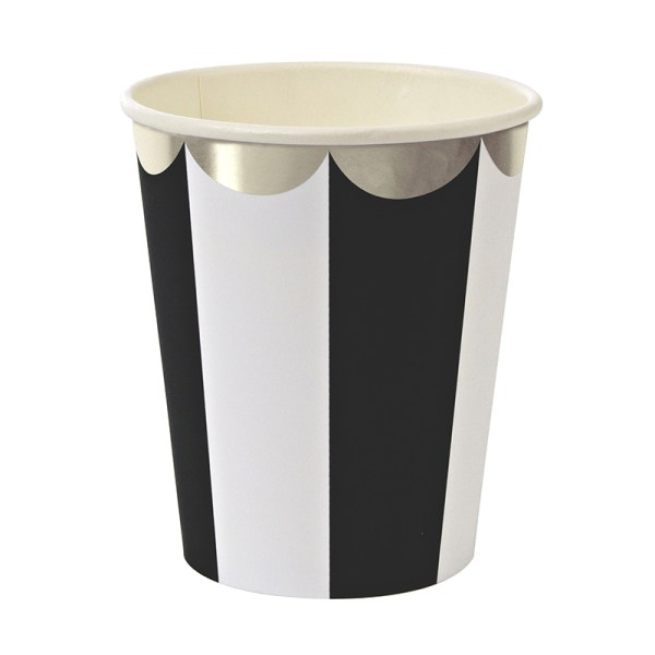 Toot Sweet Black Stripe Party Cups