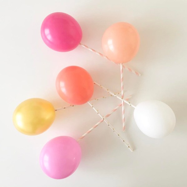 mini balony blush pink