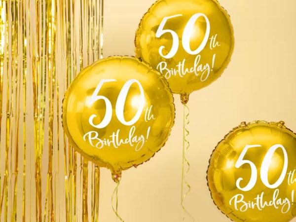 BALON FOLIOWY 50TH BIRTHDAY 45 CM 1