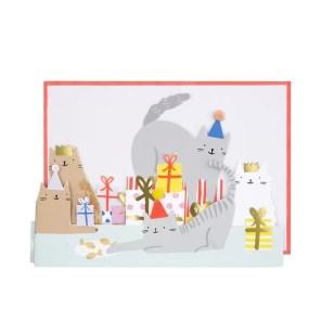 KARTKA 3D KOCIA IMPREZA MERI MERI