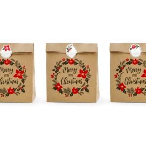 TOREBKI MERRY LITTLE CHRISTMAS 25x11x27 CM