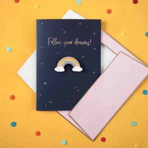 KARTKA Z PINEM TĘCZA