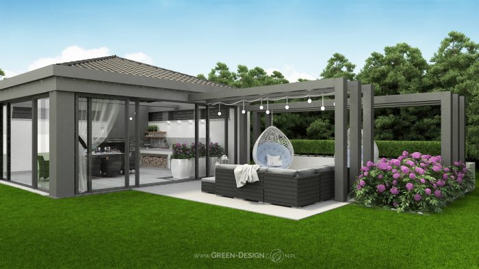 Nowoczesne Sklep Green Design Projekty Altan Ogrodowych