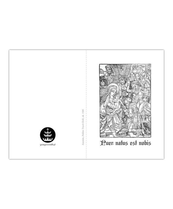 Kartka bożonarodzeniowa – Anonim, Pokłon Trzech Króli, ok. 1500