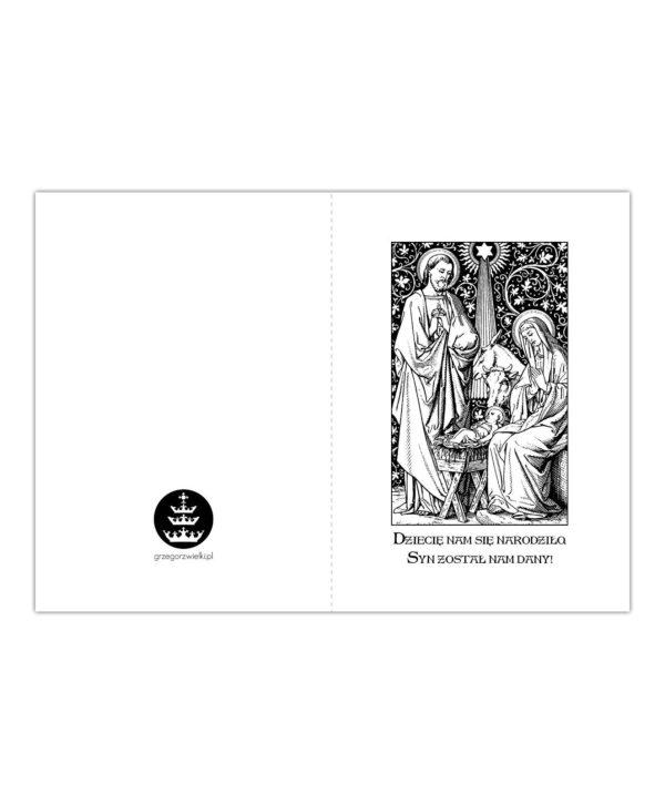 Kartka bożonarodzeniowa – Ilustracja z Mszału Rzymskiego