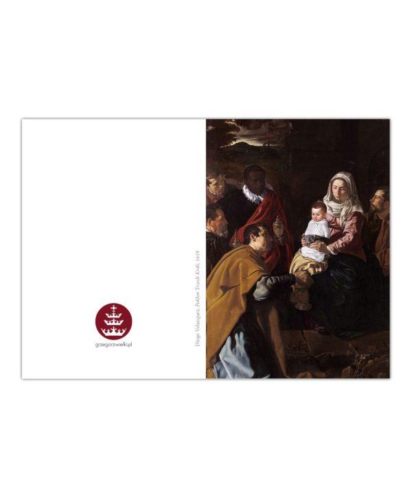 Kartka bożonarodzeniowa – Diego Velazquez, Pokłon Trzech Króli, 1619
