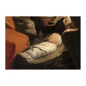 Kartka bożonarodzeniowa – Georges De La Tour, Pokłon Pasterzy (fragment), ok. 1644