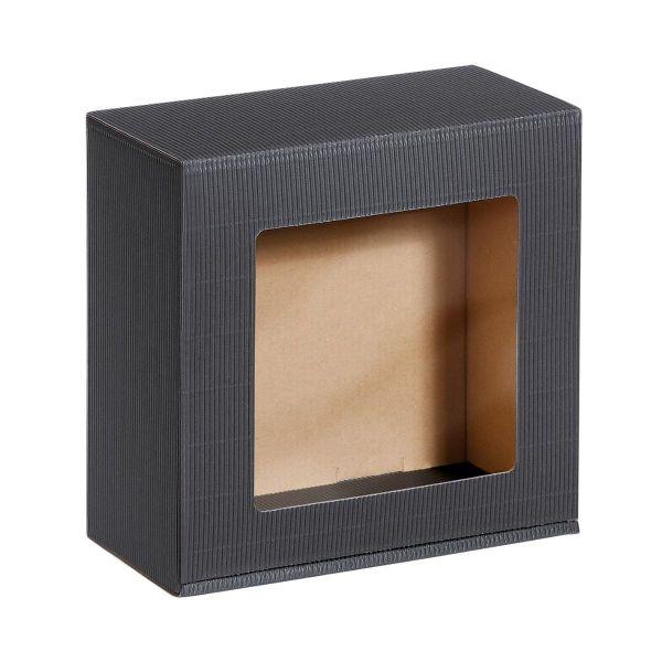 Opakowanie na prezenty kwadrat z okienkiem
